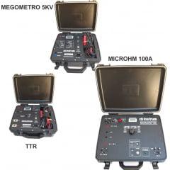 """MEGOMETRO 10KV + MICROHM 100A + MEDIDOR DE RELAÇÃO DE ESPIRAS """"TTR"""""""